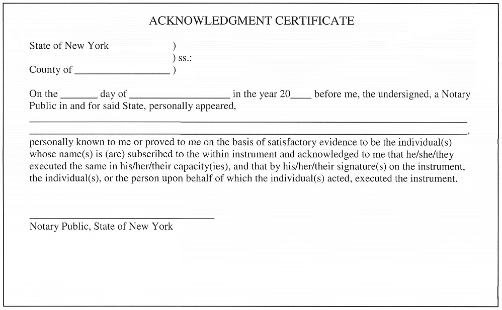 new-york-acknowledgement-certificate-county-clerk