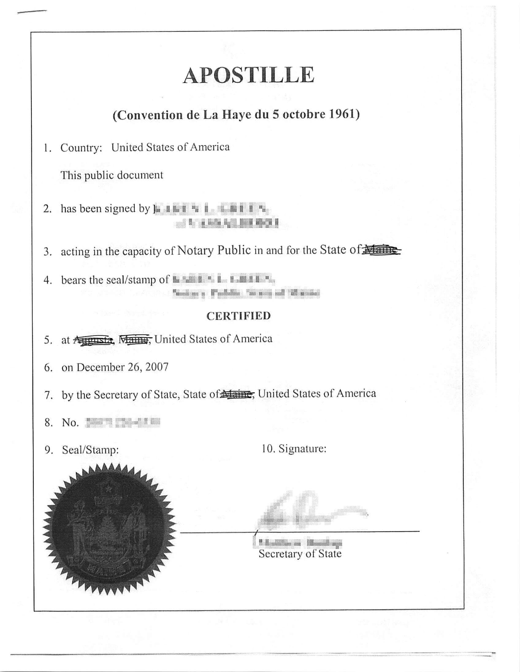 apostille translation Translations in context of apostille in english-spanish from reverso context: an apostille certification or an authentication confirms the authenticity of the.