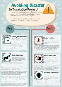 Infographics - Avoiding Disaster