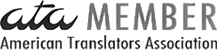 ATA American Translators Association Member Agency