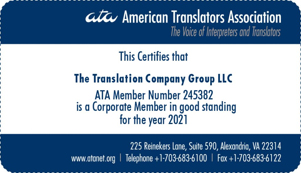 Accredited Translators & Interpreters